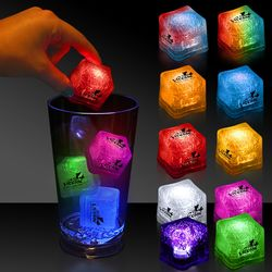"1-3/8"" Premium Light-Up Plastic Ice Cubes"