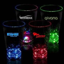 16 oz Plastic Light-Up Flashing Pint Glass