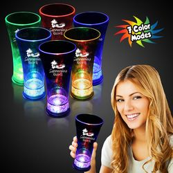 14 oz Plastic Light-Up Pilsner Glass with Multi-Color LEDs
