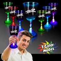 10 oz Plastic Light-Up Wine Glass with Multi-Color LEDs
