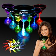 10.5 oz Plastic Light-Up Margarita Glass with Multi-Color LEDs