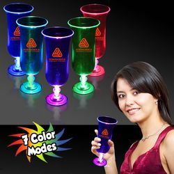 16 oz Plastic Light-Up Hurricane Glass with Multi-Color LEDs