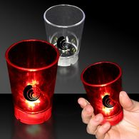 2 oz Plastic Light-Up Shot Glass with Dice Game