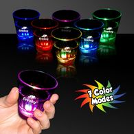 2 oz Plastic Light-Up Shot Glass with Multi-Color LED
