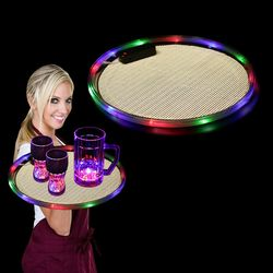 Light-Up Serving Tray with Multi-Color LEDs