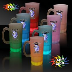 20 oz Plastic Light-Up Mug with Multi-Color LEDs