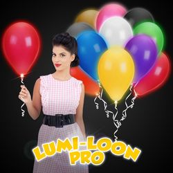 """14"""" Light-Up Latex Baloons - Assorted Colors with White LEDs"""