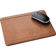 Cutter & Buck® Leather Mouse Pad