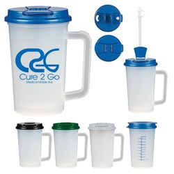 22 oz Medical Cup with Handle and Measurement Markings