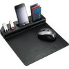 Faux Leather Mouse Pad with Phone Holder