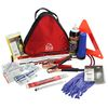 Highway Roadside Emergency Kit in Triangle Case Contains 11 Safety Essentials + 19 Piece First Aid Kit