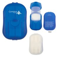 Hand Soap Sheets In Compact Travel Case with Full-Color Printing