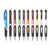 Colorful Push-Action Ballpoint Pen with Large Imprint Area