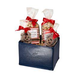 Gift Set with Popcorn & Pretzels in Folding Bin