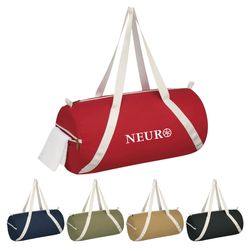 "20"" Cotton Canvas Budget Duffel Bag"