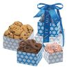 Mini 3-Tier Gourmet Gift Tower with Chocolate Pretzels, Cookies, and Starlight Mints
