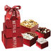 4-Tier Chocolate Lover's Gift Tower with Popcorn, Pretzels and Raisins