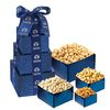 4-Tier Nutty Gift Tower with Salted Peanuts, Pistachios, Cashews, & Honey Roasted Peanuts