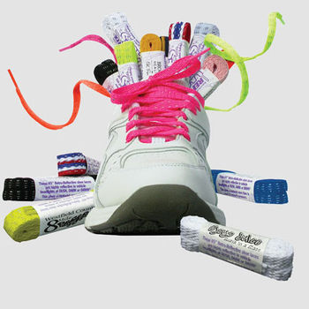 Thin Reflective Safety Shoe Laces (Imprint on packaging band only)
