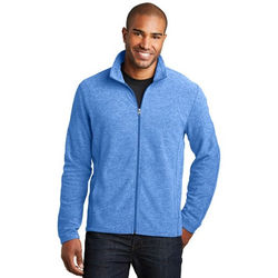 Men's Full-Zip Heathered Microfleece Jacket