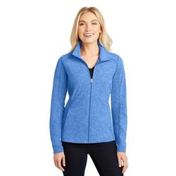 Ladies' Full-Zip Heathered Microfleece Jacket