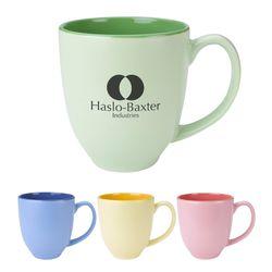 14 oz Pastel Ceramic Bistro Mug