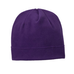 Embroidered Fleece Beanie Hat