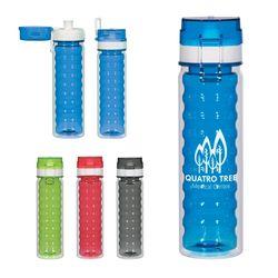 18 oz. Dishwasher-Safe Bottle with Flip-Top Sipper Lid and Flip-Up Handle
