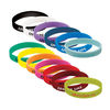Silicone Wristband with Printed Messaging - Rush Service