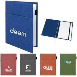 Letter-Size Snow Canvas Padfolio