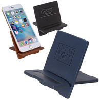 Executive Faux Leather Phone Stand (Ships Flat, Unassembled)