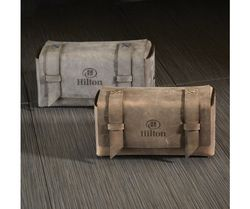 Leather Dopp Kit Bag