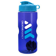 22 oz Dishwasher-Safe Shaker Bottle With Flip-Top Lid and Side Grip for Blending Protein Powders and Drink Mixes
