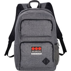 "Trendy ""Snow Canvas"" Backpack with Compartment for 15.6"" Laptop"
