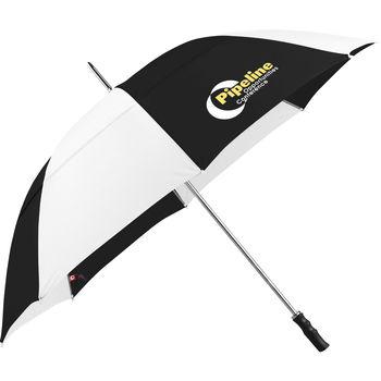 "60"" Arc Manual-Open Golf Umbrella with Plastic Handle (39"" Folded)"