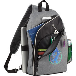 "Trendy Snow Canvas Computer Sling Backpack Holds 15"" Laptop"