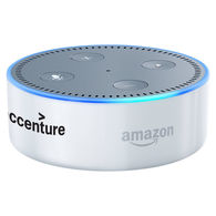Amazon Echo Dot Black 2nd Generation Bluetooth Speaker - Custom Imprinted