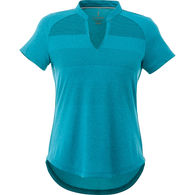 Quick Ship LADIES' Tone-on-Tone Striped Technical Wicking Polo - BEST