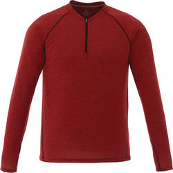 Quick Ship MEN'S Sporty Long-Sleeve Shirt with 1/4 Zip (Fashion/Luxury)