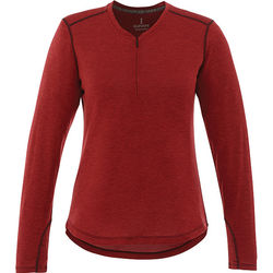 Quick Ship LADIES' Sporty Long-Sleeve Shirt with 1/4 Zip (Fashion/Luxury)