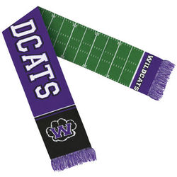 "64"" Scarf with Knit-In Custom Logo (for Detailed Designs) - USA Made"