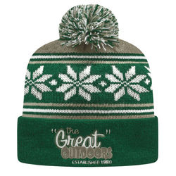 Cuffed Beanie with Knit-In Custom Logo (for Simple Designs) - USA Made