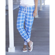 Ladies' Flannel Tailgate Jogger Pants with Banded Ankles
