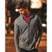 Anvil® Men's Triblend Hooded Full-Zip T-SHIRT