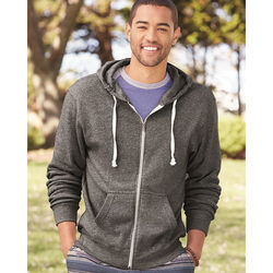 Men's Triblend Hooded Full-Zip Sweatshirt