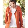 Adult French Terry Heathered Hooded Full-Zip Sweatshirt