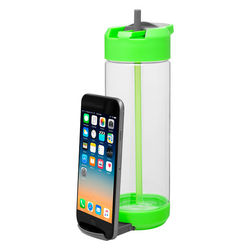 20.9 oz Single-Wall Dishwasher-Safe Water Bottle with Phone Stand
