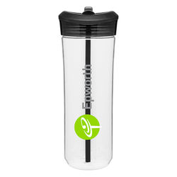 25 oz Single-Wall Dishwasher-Safe Water Bottle with Flip-Up Spout and Straw