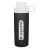 20 oz Glass Bottle with Silicone Sleeve and Threaded Dual-Opening Lid