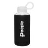 16 oz Glass Bottle with Silicone Sleeve and Threaded Lid